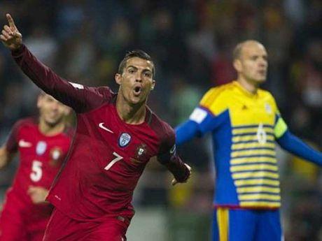 Ronaldo tro lai ghi 4 ban cho Bo Dao Nha - Anh 2