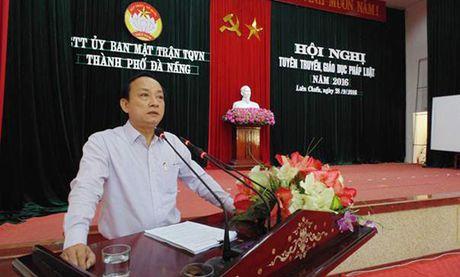 MTTQ TP Da Nang: Tuyen truyen, giao duc phap luat nam 2016 - Anh 1