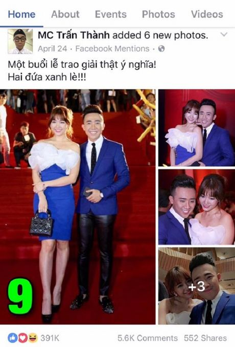 Tran Thanh khoe anh tinh tu voi Hari Won gay bao - Anh 8