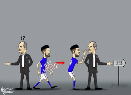 Biem hoa 24h: HLV Italia va Tay Ban Nha 'nga ngua' vi Buffon va Ramos - Anh 1