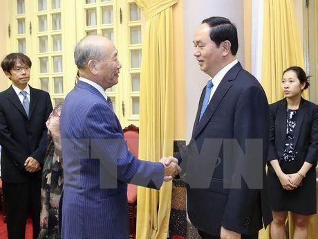 Chu tich nuoc Tran Dai Quang tiep Pho Chu tich FEC Yoshihiko Nakagaki - Anh 1