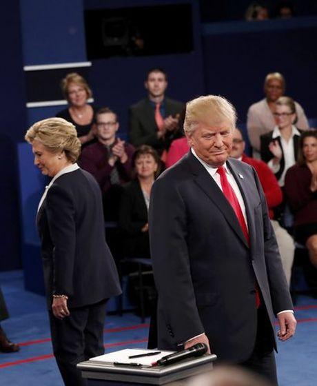 Nhung hinh anh cuoc tranh luan lan 2 Hillary Clinton-Donald Trump - Anh 2