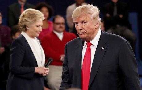 Tranh luan truc tiep lan hai day gay can giua Trump va Clinton - Anh 1