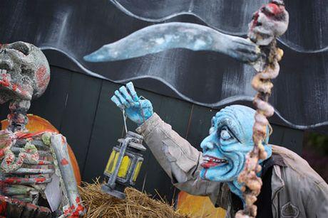 Tung bung don mua le hoi Halloween tai Ba Na Hills - Anh 1