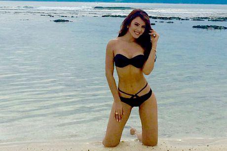 Nam Em mac bikini thi Miss Earth len bao Philippines - Anh 3