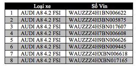 Audi A8 V8 FSI bi trieu hoi - Anh 1