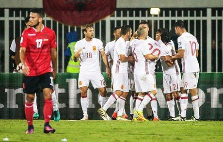 Ha guc Albania, Tay Ban Nha doi lai ngoi dau - Anh 1