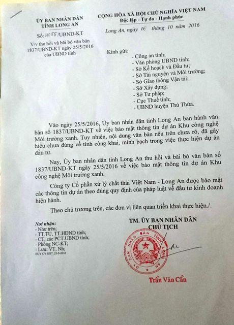 Bo van ban 'bao mat thong tin' cho du an rac tram trieu do - Anh 1