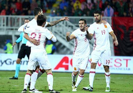 Albania 0-2 Tay Ban Nha: Cap doi Premier League toa sang, Tay Ban Nha len dinh - Anh 1