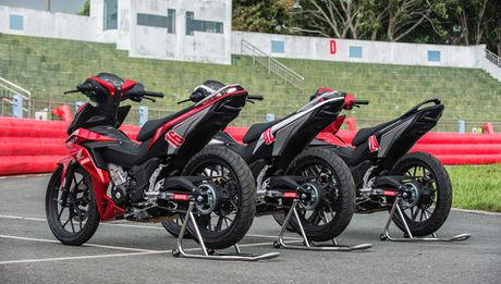 Honda WINNER 150 duoc mang vao duong dua, cung kha an tuong - Anh 1