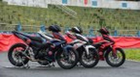 Honda WINNER 150 duoc mang vao duong dua, cung kha an tuong - Anh 25