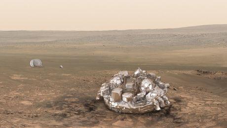 ESA chuan bi dua tau Schiaparelli ha canh xuong sao Hoa, chuan bi cho su mang ExoMars 2020 - Anh 3