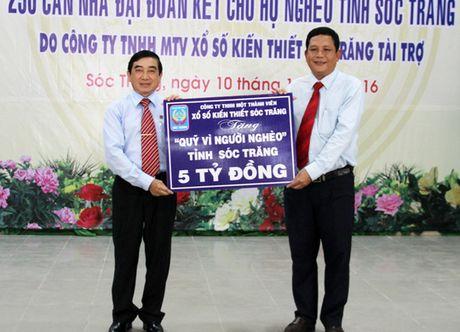 Xo so kien thiet Soc Trang tang 500 can nha cho nguoi ngheo - Anh 1
