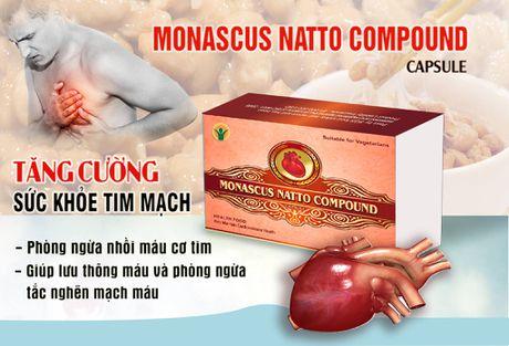 Vien nang Monascus Natto Compound – ngan ngua nguy co dot quy va nhoi mau co tim - Anh 1