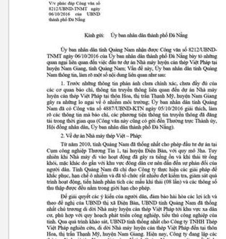 Quang Nam len tieng truoc quan ngai cua Da Nang ve Nha may thep phia thuong nguon - Anh 2
