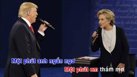 Tranh luan Trump-Clinton thanh man hat Karaoke suot muot - Anh 1
