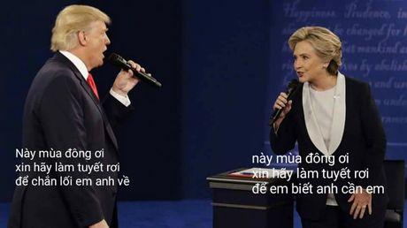 Tranh luan Trump-Clinton thanh man hat Karaoke suot muot - Anh 2