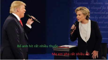 Tranh luan Trump-Clinton thanh man hat Karaoke suot muot - Anh 3