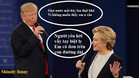 Tranh luan Trump-Clinton thanh man hat Karaoke suot muot - Anh 4