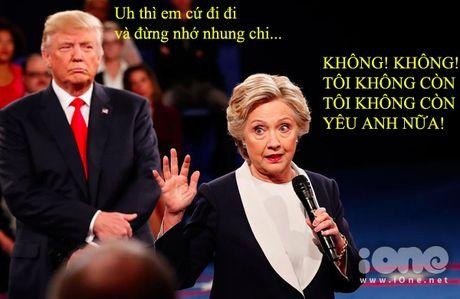 Tranh luan Trump-Clinton thanh man hat Karaoke suot muot - Anh 5