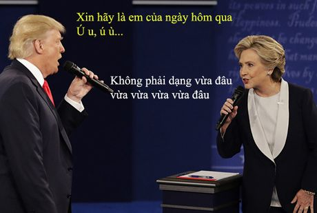 Tranh luan Trump-Clinton thanh man hat Karaoke suot muot - Anh 6