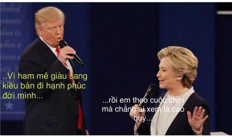 Tranh luan Trump-Clinton thanh man hat Karaoke suot muot - Anh 8