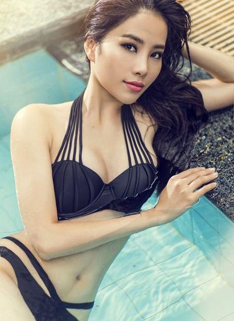 Nam Em tao dang voi bikini tren bao Philippines - Anh 2