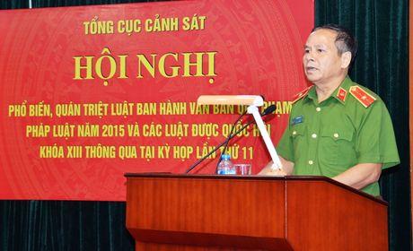 Tong cuc Canh sat pho bien, quan triet cac Luat duoc Quoc hoi khoa XIII thong qua - Anh 1