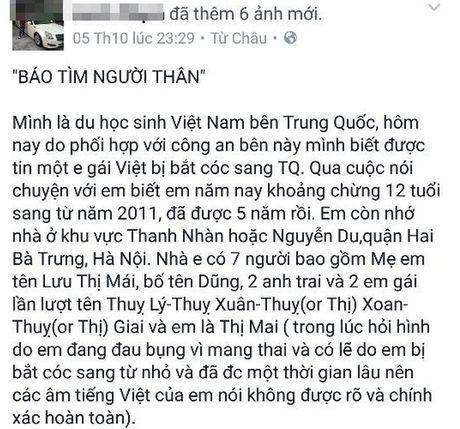 Xac minh than nhan be gai 12 tuoi nguoi Viet co thai o Trung Quoc - Anh 1