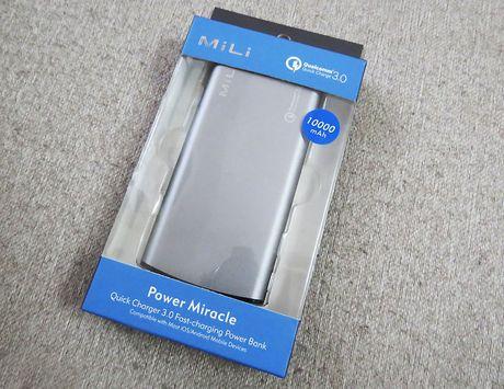Tren tay pin du phong Mili Power Miracle ho tro sac sieu toc Quick Charge 3.0 - Anh 1