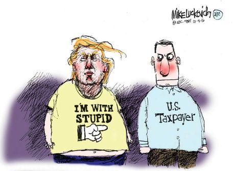 Man doi dau giua Trump va Clinton qua tranh biem hoa - Anh 5