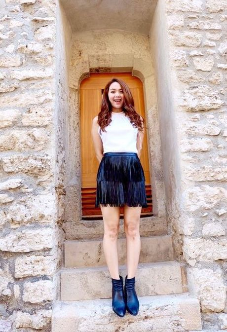 Phong cach mix do tua rua cuc chat cua Minh Hang, Jennifer Pham - Anh 1