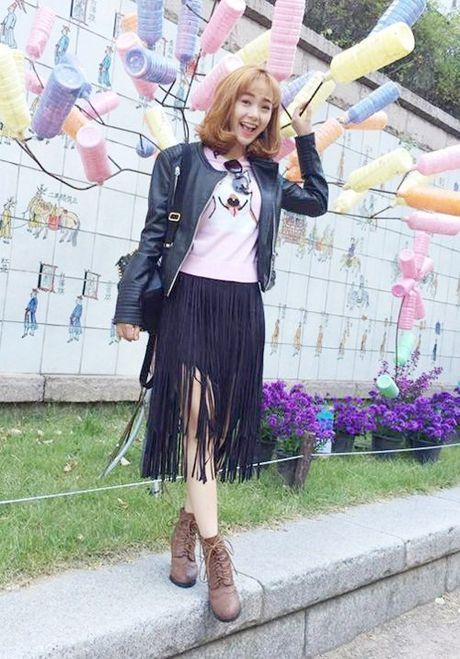 Phong cach mix do tua rua cuc chat cua Minh Hang, Jennifer Pham - Anh 2
