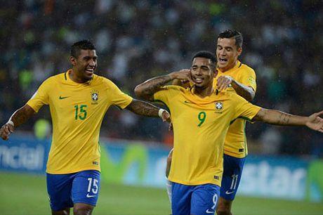 Clip 'Than dong' Gbriel Jesus toa sang, Brazil ha Venezuela - Anh 1
