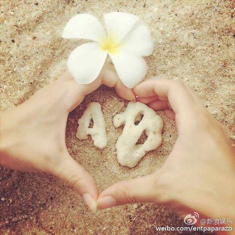 Huynh Hieu Minh dua vo bau Angelababy di nghi duong - Anh 2