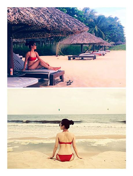 Nhung lan hiem hoi Huong Tram dien bikini - Anh 4