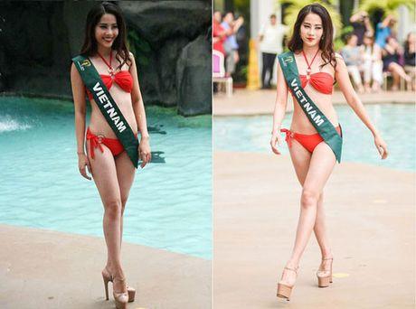 Nam Em dien bikini, khoe dang ben dan thi sinh Miss Earth - Anh 2