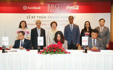BRG, SeABank va Coca-Cola hop tac toan dien - Anh 1