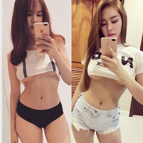 Linh Chi dap tra loi thach thuc khoe chan nguc cua Ngoc Trinh - Anh 2
