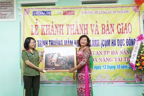 Khanh thanh va ban giao Truong mam non Dai Lanh do Chua Ba Da, Bao Cong an TP Da Nang va Hoi Phu nu Cong an TP Da Nang tai tro - Anh 4