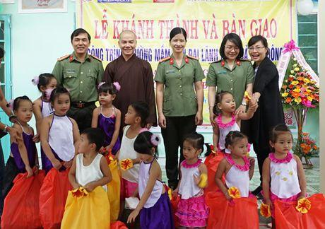 Khanh thanh va ban giao Truong mam non Dai Lanh do Chua Ba Da, Bao Cong an TP Da Nang va Hoi Phu nu Cong an TP Da Nang tai tro - Anh 7