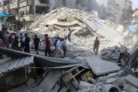 Khong kich du doi o Aleppo, 25 nguoi thiet mang - Anh 1