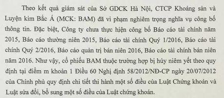 San HNX lai 'khai tu' mot co phieu khoang san vi vi pham nghiem trong CBTT - Anh 1