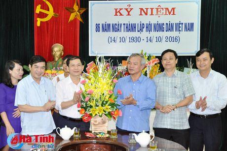 Lanh dao tinh chuc mung Hoi Nong dan nhan ngay truyen thong - Anh 2