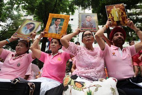 Thai Lan tran ngap mau hong, cau nguyen cho Nha Vua - Anh 1