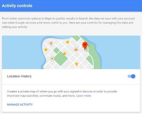 Cach xem lai lich su vi tri tren Google Map - Anh 1