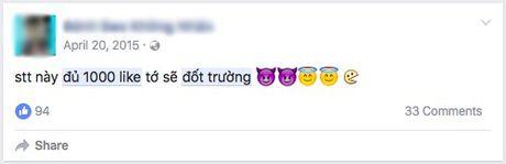 Nhung status 'Du 1.000 Like dot truong' nhan nhan tren Facebook - Anh 1