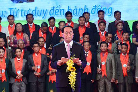 Chu tich nuoc Tran Dai Quang: Vi the giai cap nong dan ngay cang duoc nang cao - Anh 1