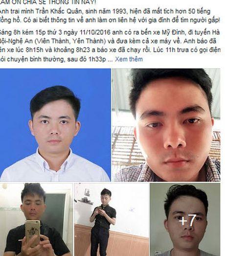 Nam sinh mat tich tren duong tu Ha Noi ve Nghe An - Anh 1