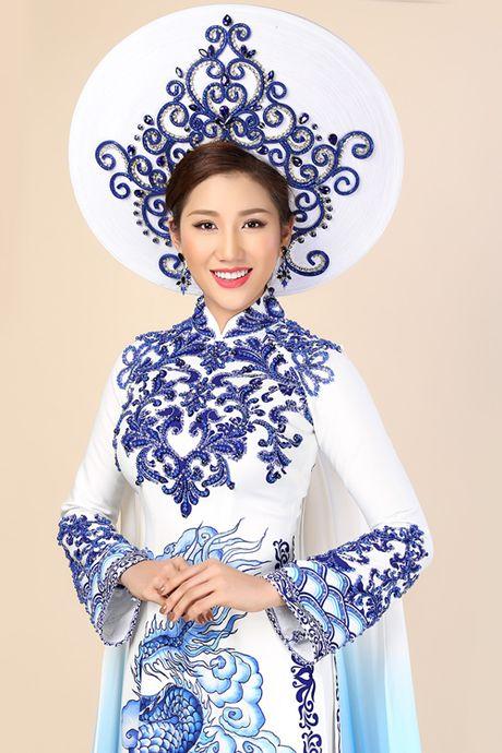 Chung ket Hoa hau Lien luc dia 2016: Bao Nhu dien ao dai lay cam hung tu gom su - Anh 1